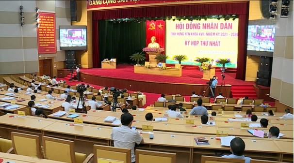 Các đại biểu dự Kỳ họp thứ Nhất, HĐND tỉnh Hưng Yên khóa XVII