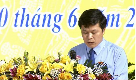 Ông Trần Quốc Toản, Phó Bí thư Tỉnh ủy, Chủ tịch HĐND tỉnh Phát biểu khai mạc Kỳ họp