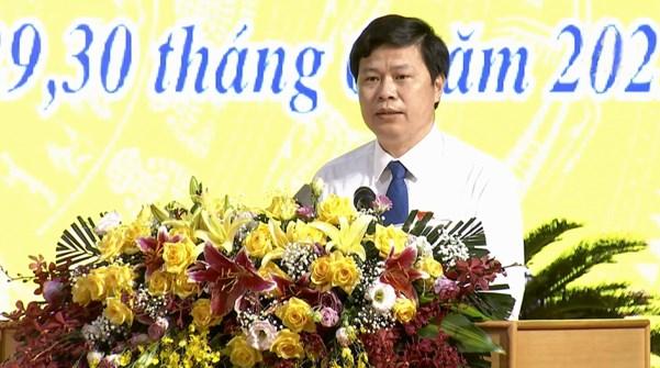 Ông Trần Quốc Toản, Chủ tịch HĐND tỉnh phát biểu bế mạc Kỳ họp
