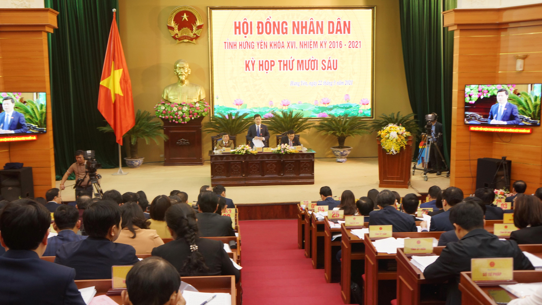Toàn cảnh Kỳ họp thứ Mười sáu Hội đồng nhân dân tỉnh khóa khóa XVI